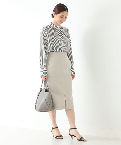 [BEAMS WOMEN] Demi-Luxe BEAMS / フロントポケット タイトスカート