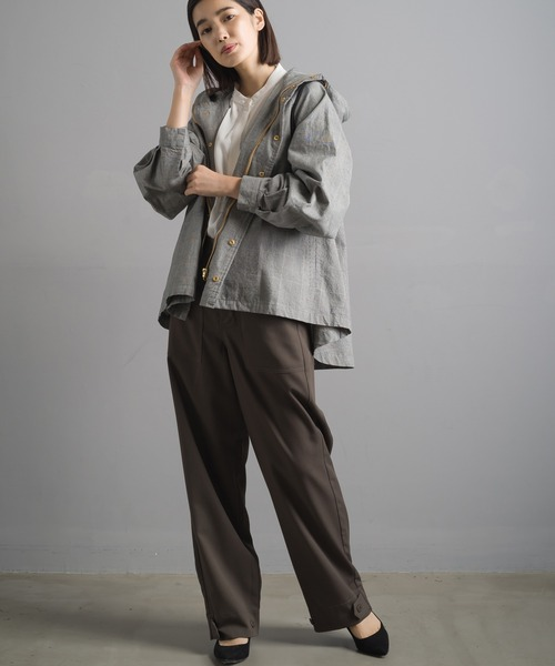 [OMNES] ダンプ 裾フレアマウンテンジャケット