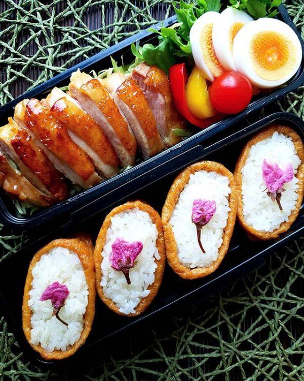 簡単人気のお弁当!桜いなり寿司