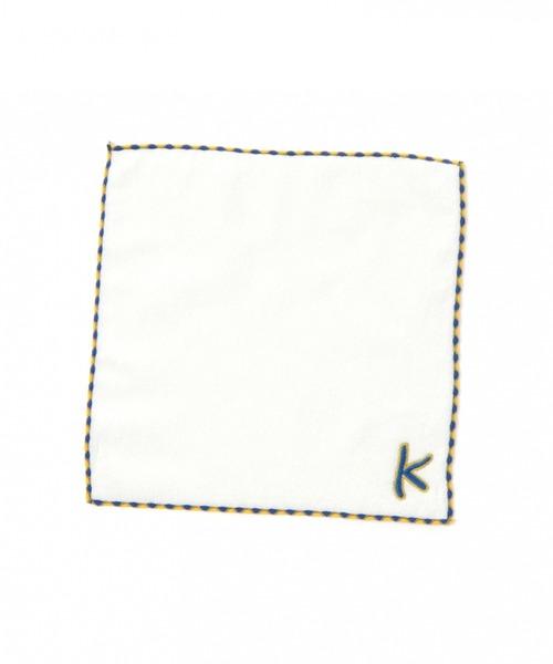 イニシャル刺繍ミニタオル
