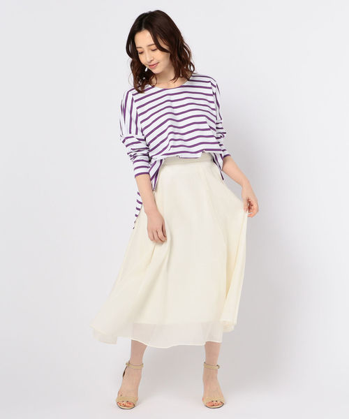 NOLLEY'S シアーカールマイヤーフレアスカート