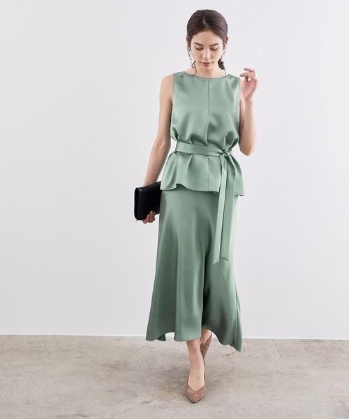 [ROPE'] ヴィンテージサテンフレアースカート