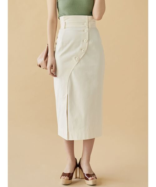 [LAGUNAMOON] ミリタリータイトスカート