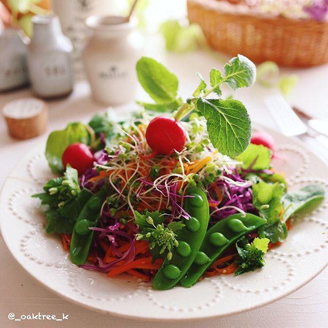 簡単大盛り!彩り満点野菜サラダ
