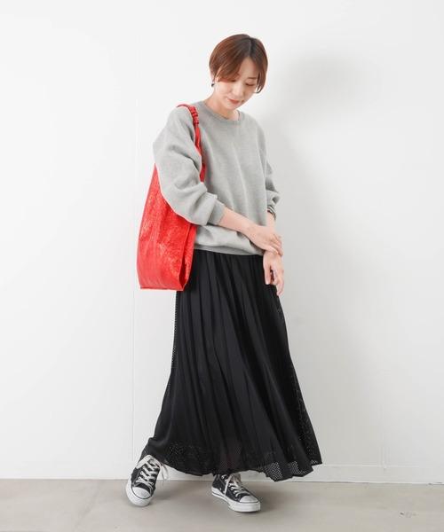 [LUCA/LADY LUCK LUCA] RAW FUDGE ローファッジ メッシュプリーツスカート