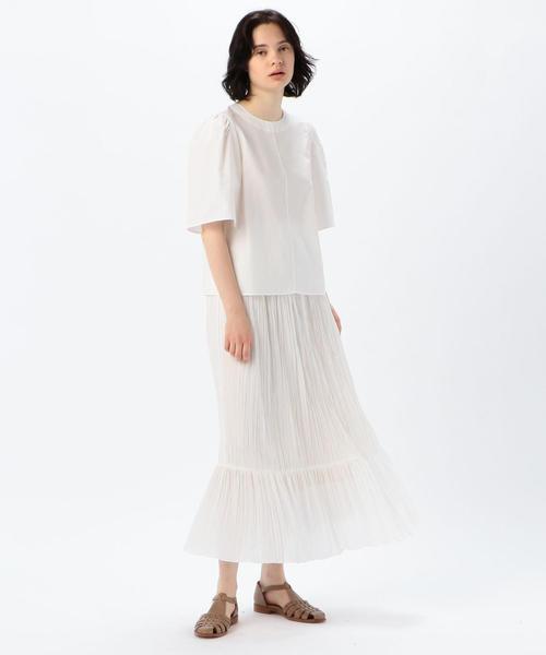[TOMORROWLAND] ポリエステルローン ギャザーマキシスカート