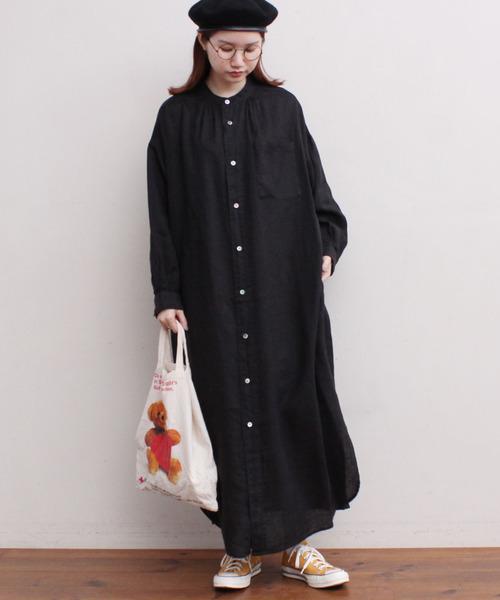 [l'atelier du savon] _LINEN pajama dress