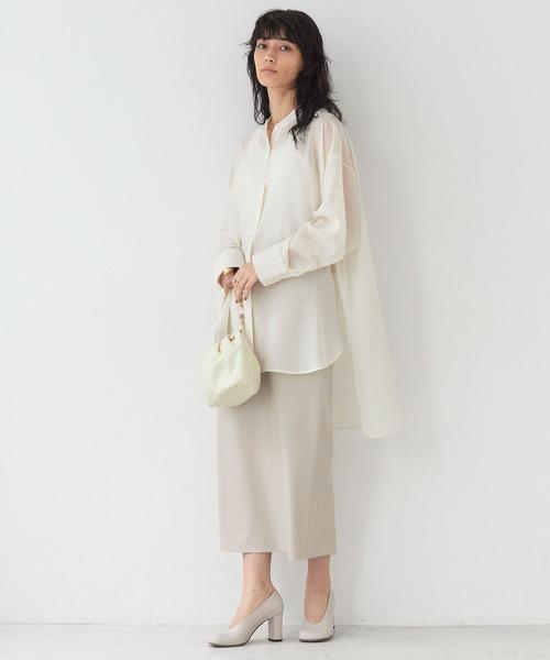 [GALLARDAGALANTE] レザーペンシルスカート