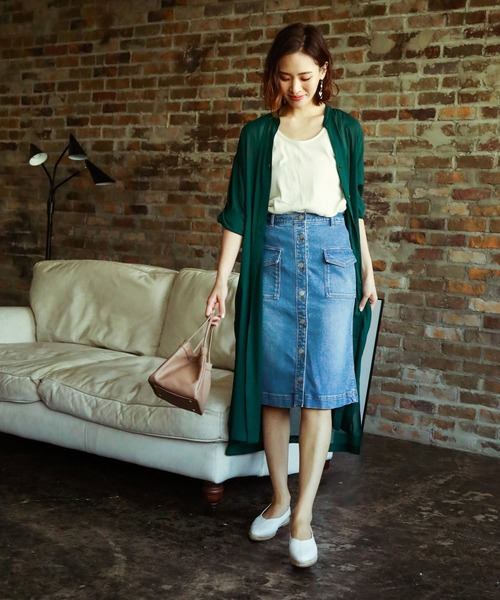 [BAYFLOW] デニムタイトスカート
