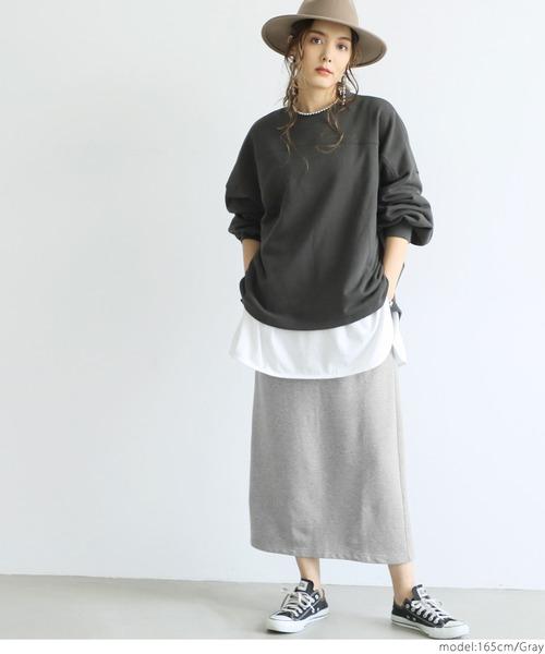 Iライン裏毛スウェットスカート