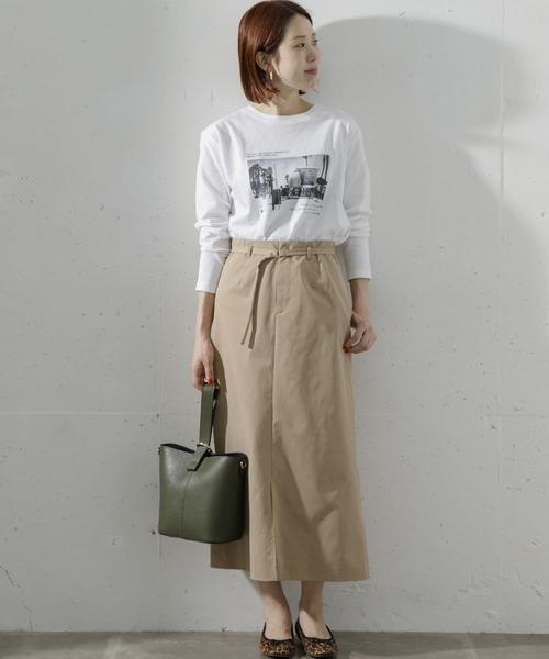 [URBAN RESEARCH Sonny Label] 【WEB限定】ベルト付きロングタイトスカート
