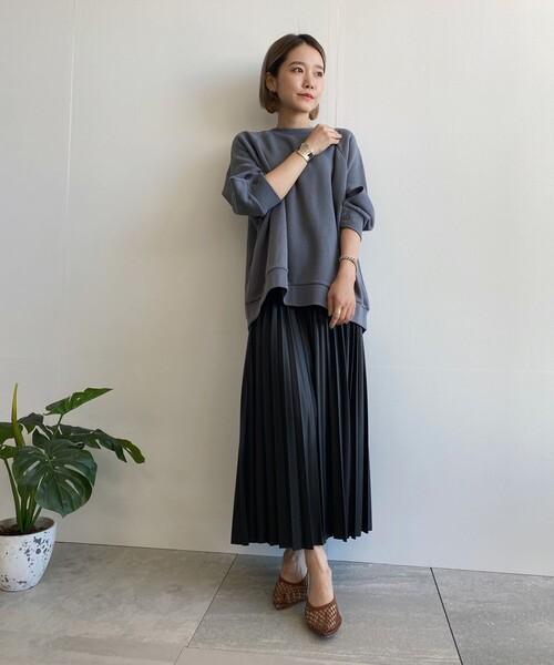 [WORLD ONLINE STORE SELECT] フェイクレザープリーツスカート