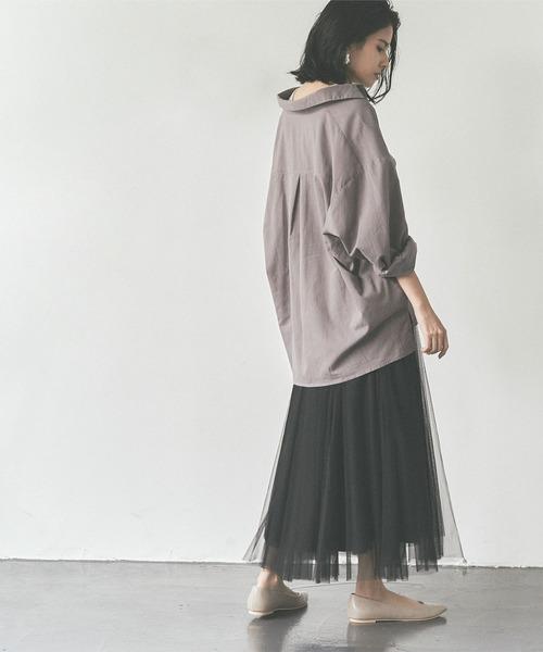 [titivate] ウエストゴムチュールロングスカート