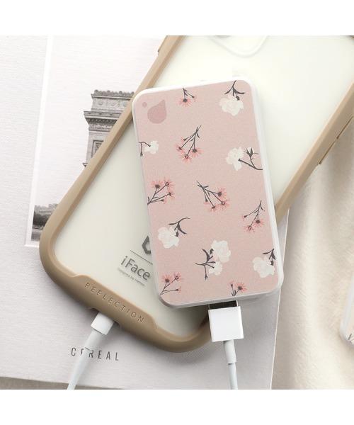 [Hamee] 花柄 モバイルバッテリー プチレーベル 名刺型 モバイル 充電器 3200mAh