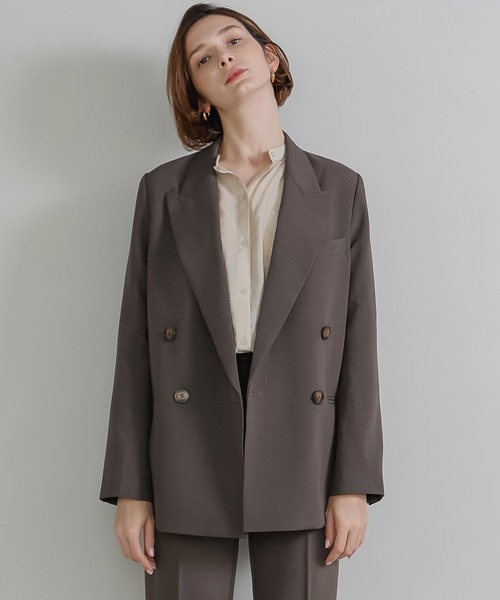 [chuclla] 【chuclla】【2020/AW】Double tailored set up jacket sb-1 chw1364