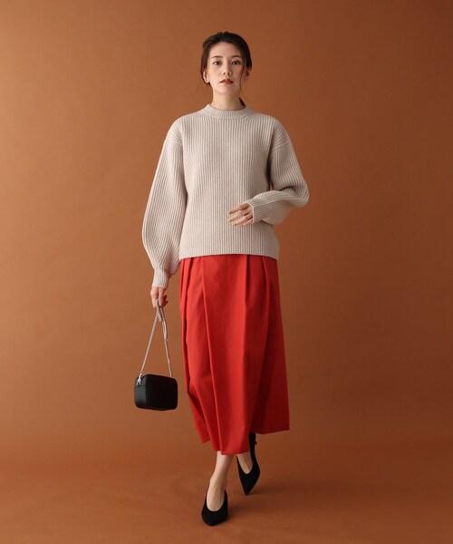 [DRESSTERIOR] 【Oggi12月号/LEE12月号掲載】アシンメトリータックハイウエストスカート