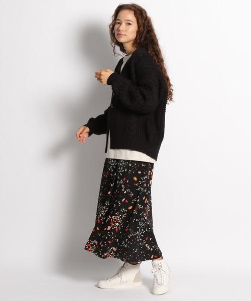 [niko and...] サイドタックフラワープリントスカート
