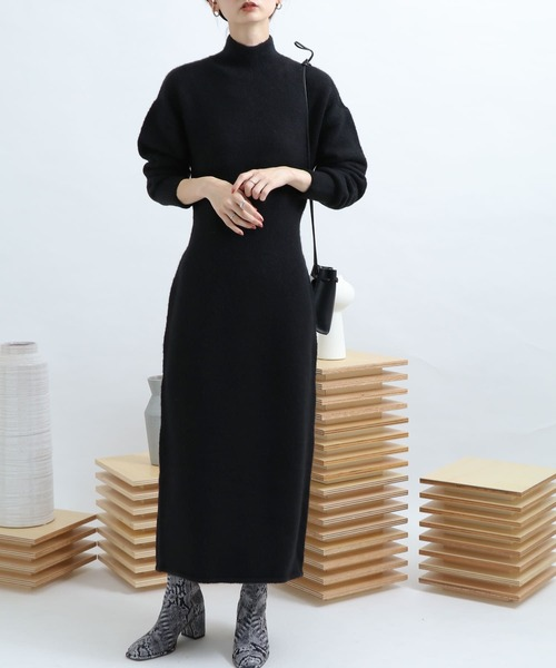 [SENSE OF PLACE by URBAN RESEARCH] ストレッチアルパカニットワンピース