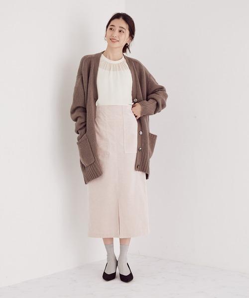 【スタイルアップ】【4サイズ展開】ハイウエストタイトスカート