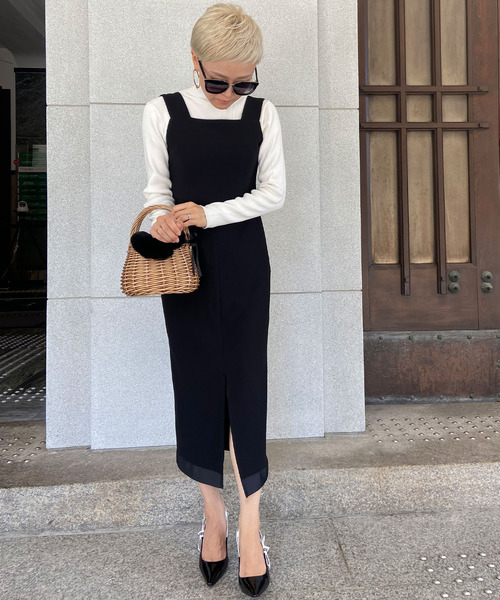 [JENNE] リトルブラック 裾リボンワンピース
