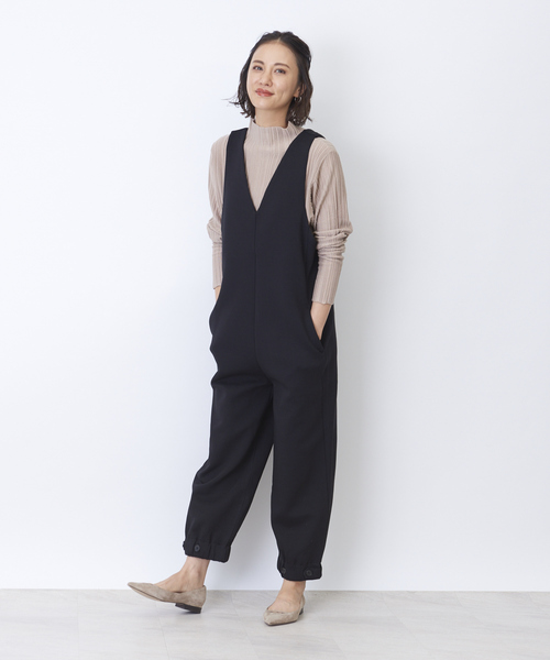 [Rouge vif la cle] カットソーサロペット