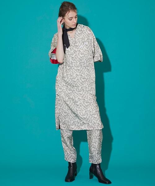 [STUDIOUS WOMENS] 【TOGA PULLA(トーガプルラ)】インナープリントドレス TP11-FH218