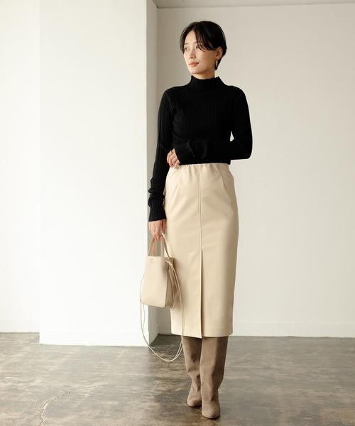 エコレザータイトスカート