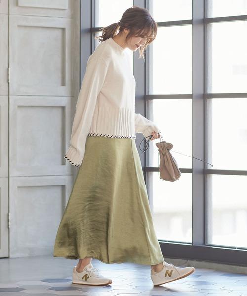 [kobelettuce] サテン素材マーメイドロングスカート