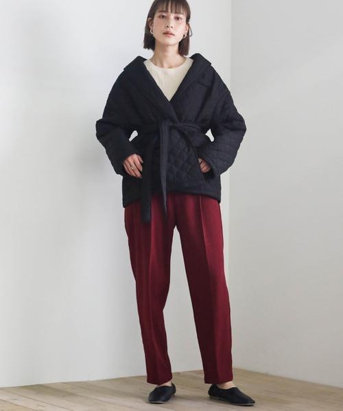 2020 A/W キルティングカシュクールジャケット/ウエストマークジャケット