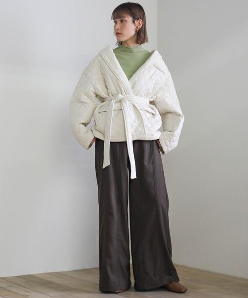[select MOCA] 2020 A/W キルティングカシュクールジャケット/ウエストマークジャケット