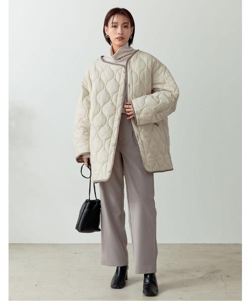 [Re:EDIT] ビッグシルエット中綿キルティングジャケット