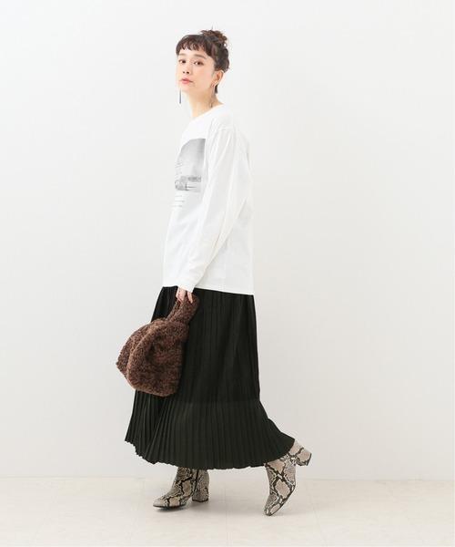 [JOURNAL STANDARD] ヘムシアープリーツニットスカート
