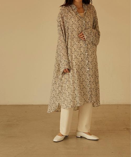 [ANGIE VINTAGE] ペイズリールーズシャツドレス/Paisley loose shirt dress