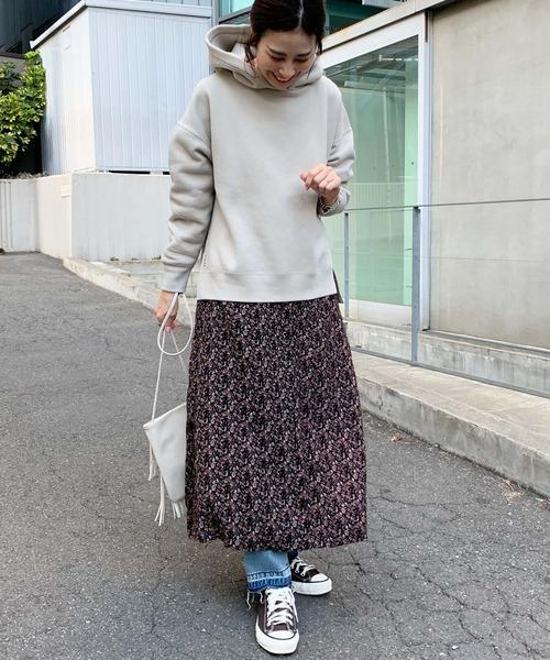 [CIAOPANIC TYPY] 【OSORO】刺繍スウェードライクフーディー
