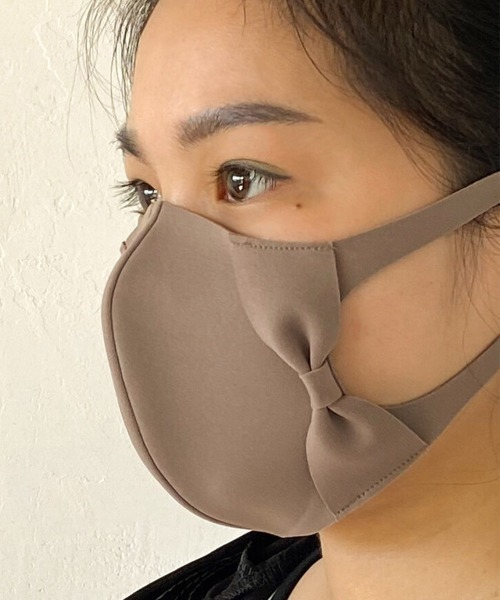 【日本製】洗って繰り返し使える立体型リボンマスク ウォッシャブルマスク