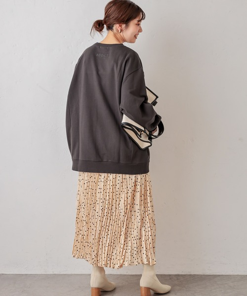 [natural couture] 発泡ロゴリンクスウェット Lサイズ