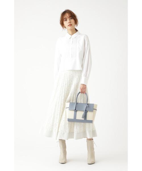 ◆【美人百花掲載】ユラレースプリーツスカート