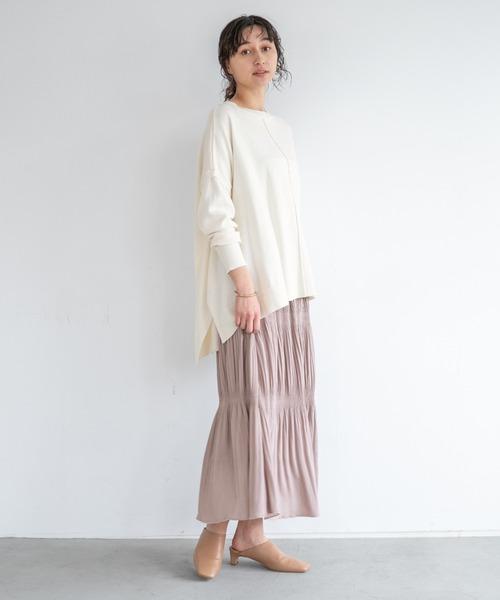 apart by lowrys] マジョリカプリーツマキシスカート