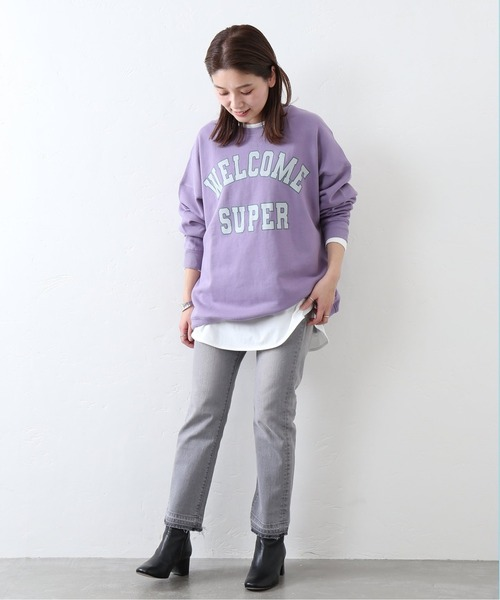 [JOURNAL STANDARD] ◆【Mishima Mart / ミシママート】College sweat C/N