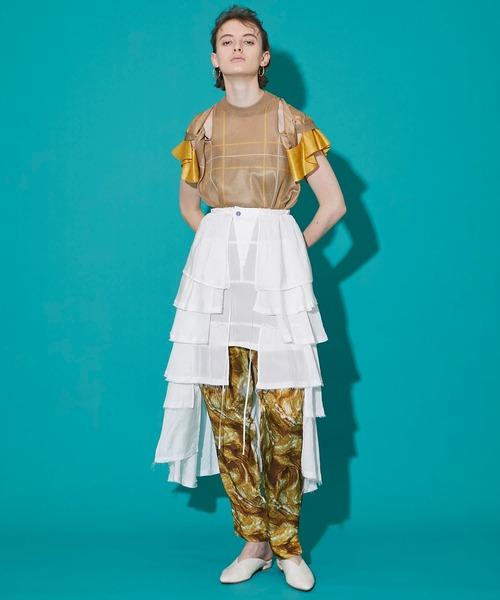[STUDIOUS WOMENS] 【TOGA PULLA(トーガプルラ)】インナーティアードスカート TP11-FG219