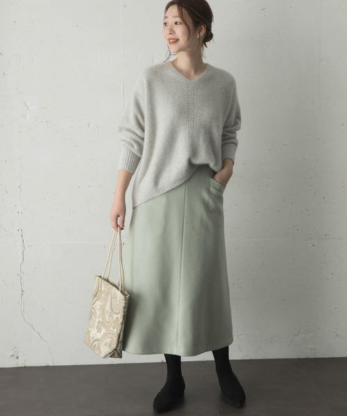 [URBAN RESEARCH ROSSO WOMEN] 【一部WEB限定カラー】ウール混Aラインスカート