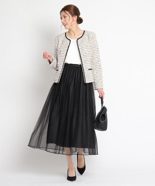 [SHOO・LA・RUE] 【フリーサイズ】ドラマティックチュールギャザースカート