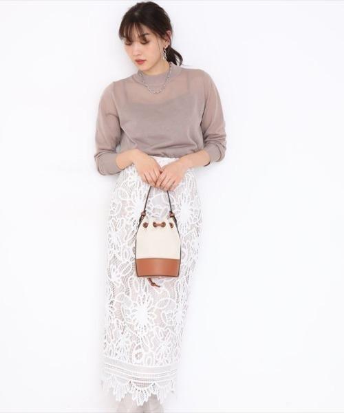 [Apuweiser-riche] レースロングタイトスカート