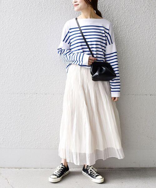 [SHIPS for women] ワッシャープリーツスカート◇