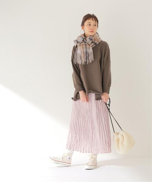 [JOURNAL STANDARD] シャイニーサテン ワッシャープリーツスカート