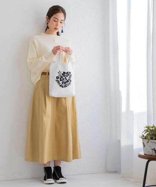 [coen] ワークスカート(ロングスカート/フレアスカート/マキシスカート)