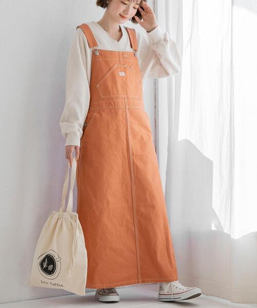 [coen] SMITH'S(スミス)別注オーバーオールスカート(ジャンパースカート/ジャンスカ/サロペット)