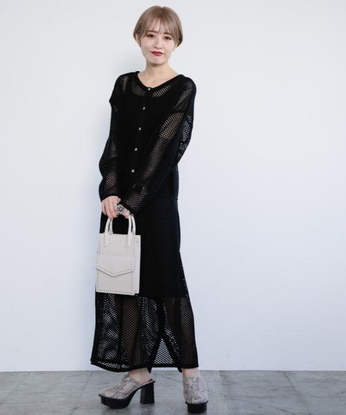 [PAGEBOY] メッシュアミレイヤードスカート【セットアップ】