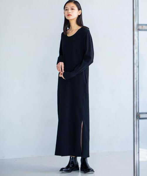 【JOSEPH STUDIO・WEB限定カラーあり・洗える】スムースパフ ニットドレス