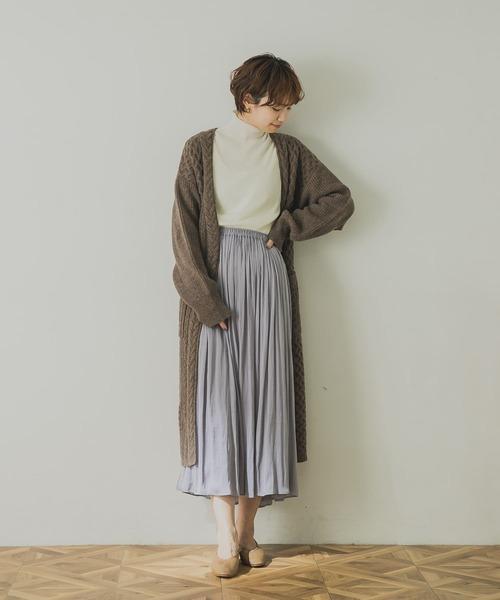 チュール×割繊リバーシブルスカート